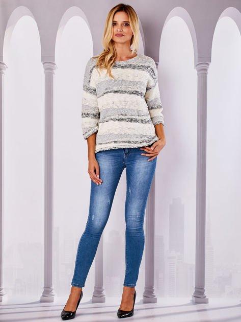 Ecru sweter melange                              zdj.                              4