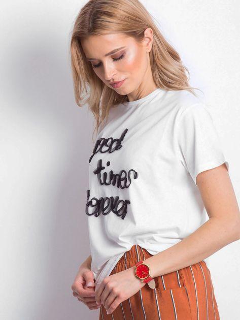 Ecru t-shirt Good Times Forever                              zdj.                              3