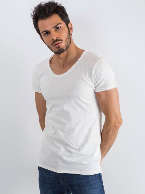 Ecru t-shirt męski Mixture                              zdj.                              3