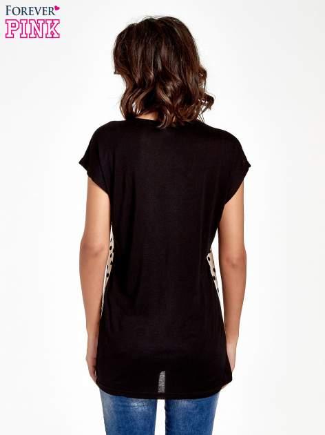 Ecru t-shirt w groszki                                  zdj.                                  4
