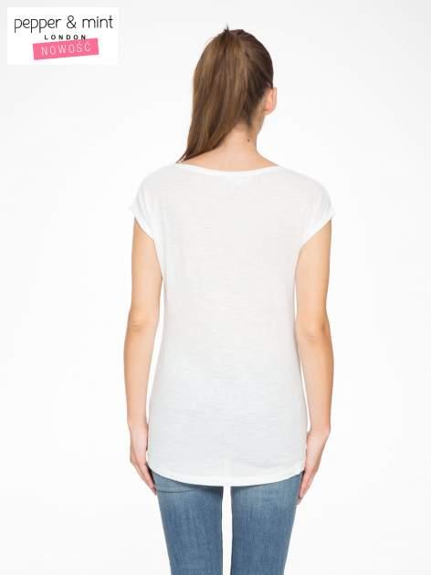 Ecru t-shirt z fotografią balonów                                  zdj.                                  4