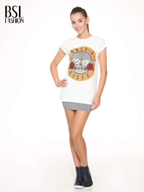 Ecru t-shirt z nadrukiem GUNS N' ROSES                                  zdj.                                  5