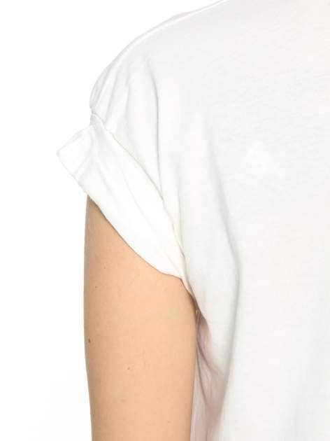 Ecru t-shirt z nadrukiem GUNS N' ROSES                                  zdj.                                  10