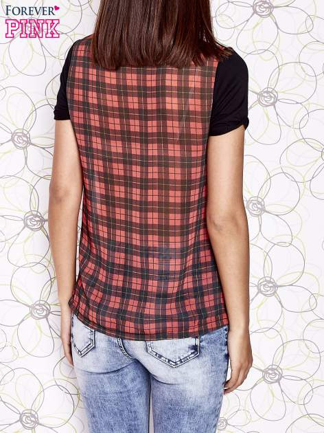 Ecru t-shirt z nadrukiem dziewczyny i tiulowym tyłem                                  zdj.                                  2