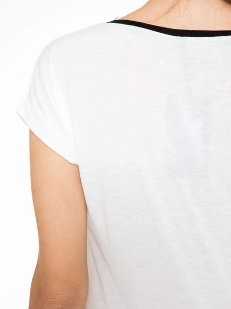 Ecru t-shirt z napisem DUMA LOVE                                  zdj.                                  10
