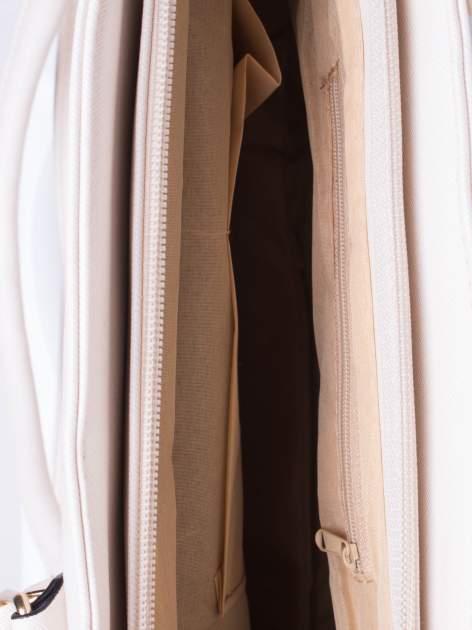Ecru torba shopper bag z odpinanym paskiem                                  zdj.                                  5