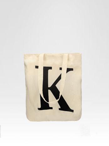 Ekotorba na zakupy z nadrukiem litery K                                  zdj.                                  1
