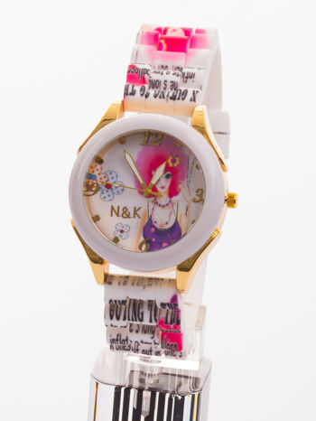 Ekstrawagancki damski zegarek z malowniczym motywem. Wyróżnij się!                                  zdj.                                  1