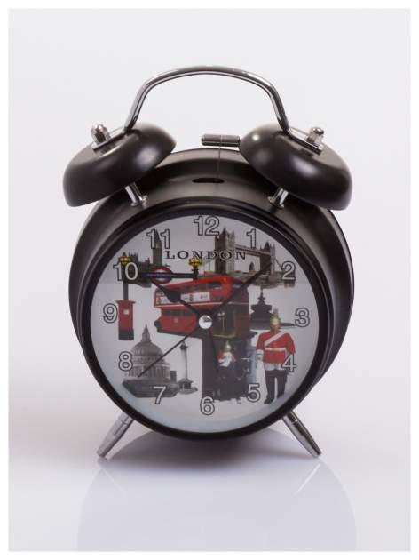 Elegancki i skuteczny :) BUDZIK zegarek stojący z lampką z motywem LONDON                                  zdj.                                  1