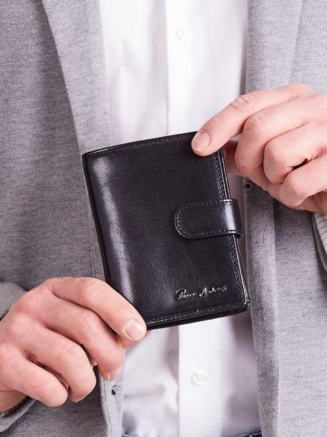 Elegancki pionowy portfel męski czarny                              zdj.                              5