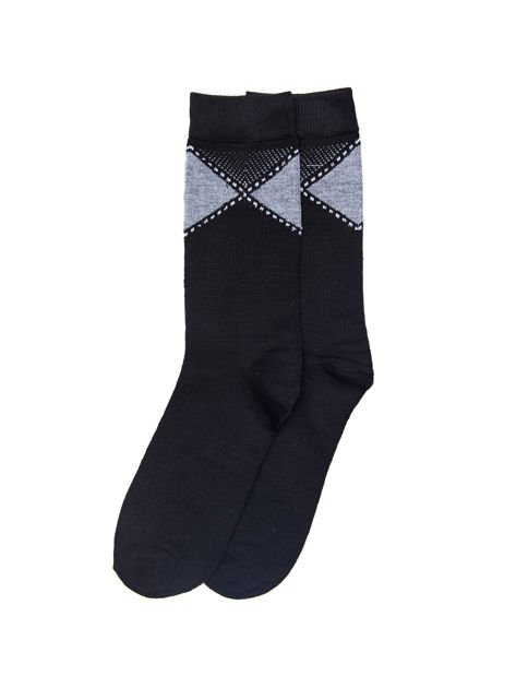 Eleganckie bawełniane skarpety męskie 3-pak wielokolorowe                              zdj.                              3