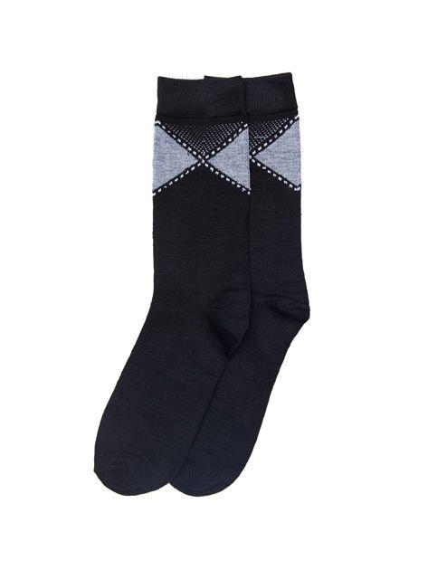 Eleganckie bawełniane skarpety męskie 3-pak wielokolorowe                              zdj.                              2