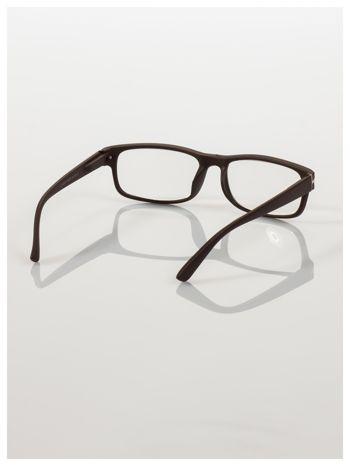 Eleganckie brązowe matowe korekcyjne okulary do czytania +3.0 D  z sytemem FLEX na zausznikach                                  zdj.                                  4