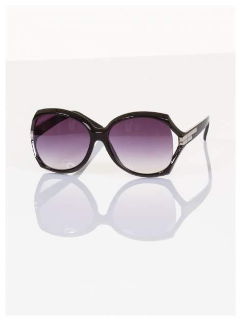 """Eleganckie czarne duże okulary przeciwsłoneczne """"MUCHY""""                                  zdj.                                  2"""