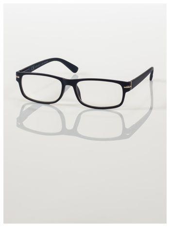 Eleganckie czarne matowe korekcyjne okulary do czytania +4.0 D  z sytemem FLEX na zausznikach                                  zdj.                                  3