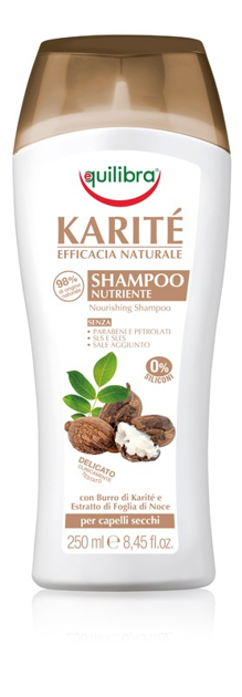 """Equilibra Naturale Szampon z masłem Shea do włosów  250ml"""""""