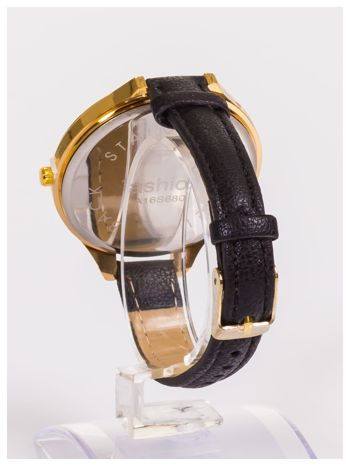 FASHION Duży damski zegarek na delikatnym skórzanym pasku                                   zdj.                                  4