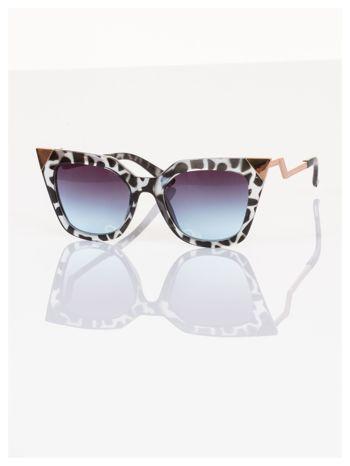 FASHION leopard okulary przeciwsłoneczne KOCIE OCZY stylizowane na FENDI                                  zdj.                                  3