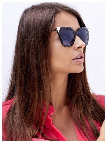 FASHION leopard okulary przeciwsłoneczne KOCIE OCZY stylizowane na FENDI                                  zdj.                                  1