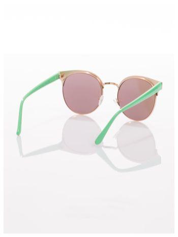FASHION okulary przeciwsłoneczne KOCIE OCZY stylizowane na FENDI zielono-złote                                  zdj.                                  4