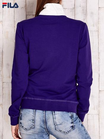 FILA Fioletowa bluza z jasną stójką