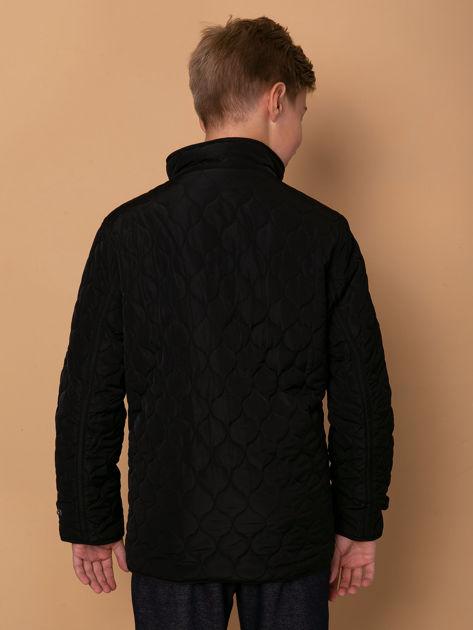 FIRETRAP Czarna pikowana kurtka dla chłopca                              zdj.                              5