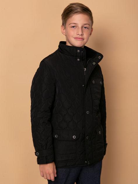 FIRETRAP Czarna pikowana kurtka dla chłopca                              zdj.                              3