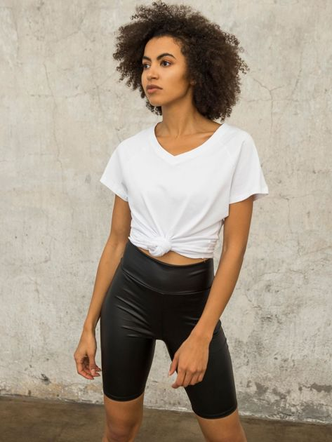 FOR FITNESS Biały t-shirt Layla