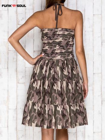 FUNK N SOUL Bawełniana sukienka moro zielona                                   zdj.                                  2