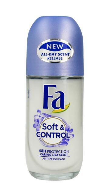 """Fa Soft & Control 48H Dezodorant roll-on Caring Lila Scent  50ml"""""""