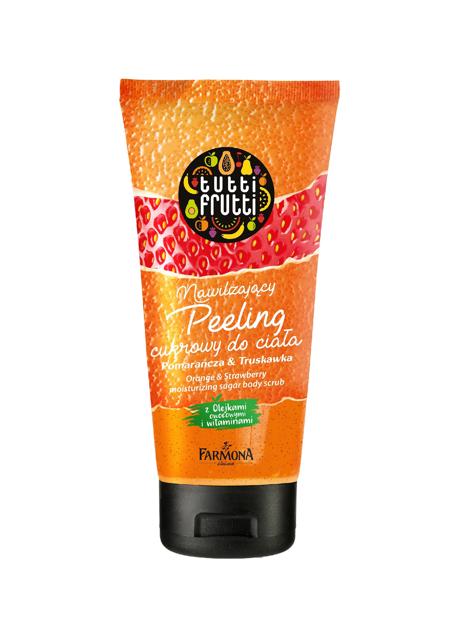 """Farmona Tutti Frutti Peeling cukrowy nawilżający do ciała Pomarańcza & Truskawka  200ml"""""""