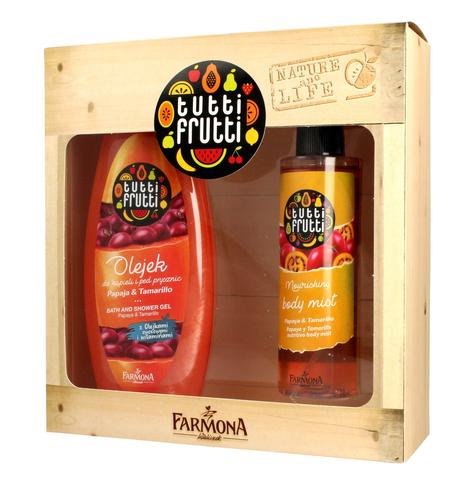 """Farmona Zestaw prezentowy Tutti Frutti Papaja&Tamarillo (olejek do kąpieli 425ml+mgiełka do ciała 200ml)"""""""