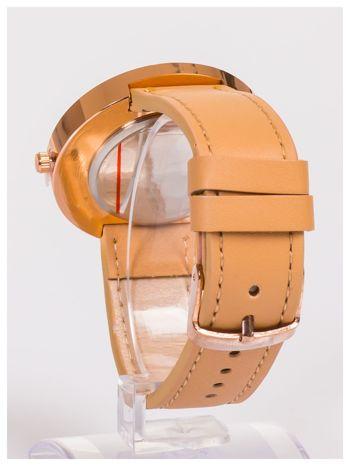 Farril -Klasyka i elegancja beżowy damski zegarek retro z cyrkoniami -Rose gold                                  zdj.                                  3
