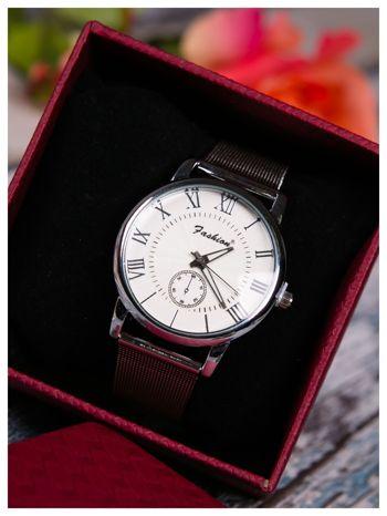Fashion -Klasyka i elegancja srebrny damski zegarek retro                                   zdj.                                  4