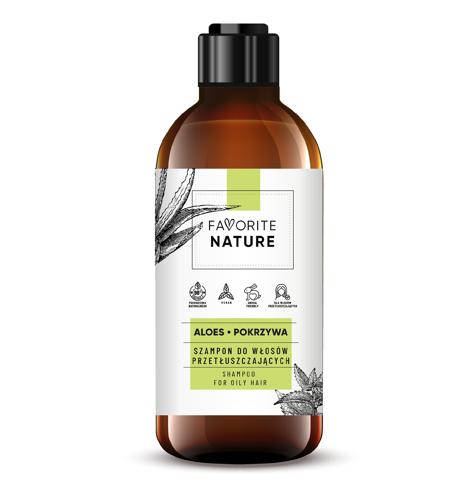 """Favorite Nature Szampon do włosów przetłuszczających się - Aloes i Pokrzywa 400ml"""""""