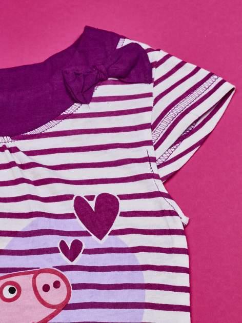 Fioletowa asymetryczna tunika dla dziewczynki ŚWINKA PEPPA                                  zdj.                                  4