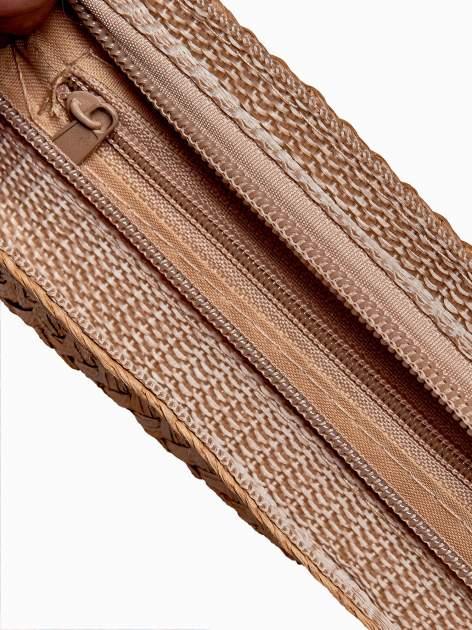 Fioletowa listonoszka we wzór etno ze słomkową górą                                  zdj.                                  5