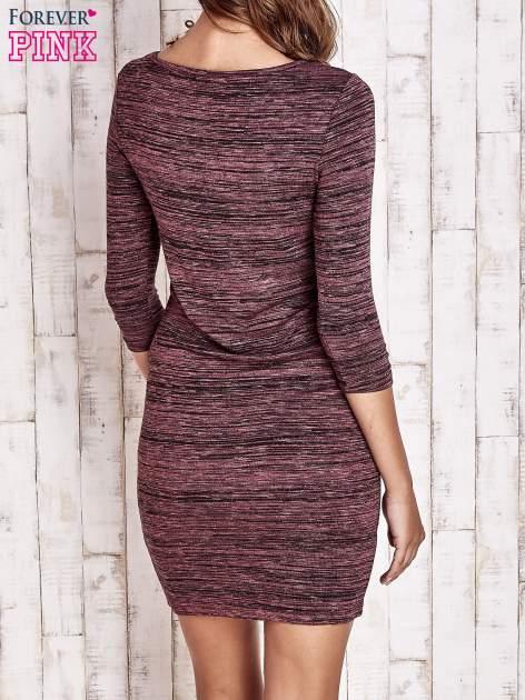 Fioletowa prosta melanżowa sukienka                                   zdj.                                  2