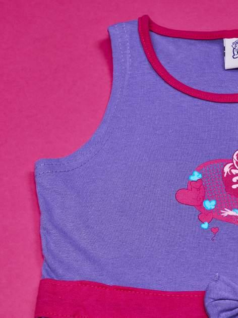 Fioletowa sukienka dla dziewczynki z kokardką i kieszonkami MY LITTLE PONY                              zdj.                              5