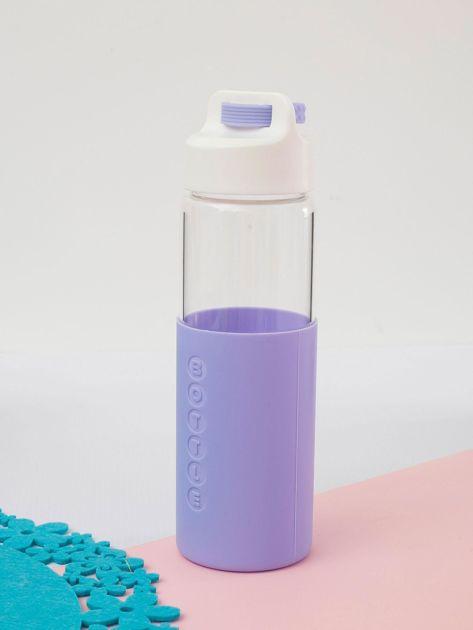 Fioletowa szklana butelka z zakrętką                              zdj.                              4