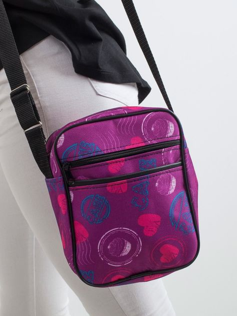 Fioletowa torebka we wzory                               zdj.                              1