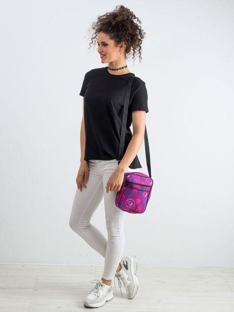Fioletowa torebka we wzory                               zdj.                              4
