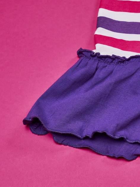 Fioletowa tunika dla dziewczynki z falbanką na dole MY LITTLE PONY                                  zdj.                                  5
