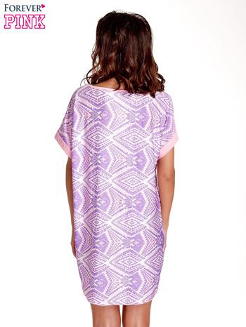 Fioletowa tunika w azteckie wzory                                  zdj.                                  4