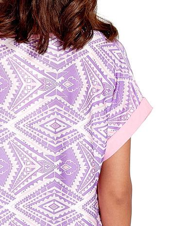Fioletowa tunika w azteckie wzory                                  zdj.                                  6