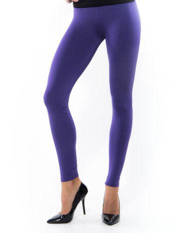 Fioletowe gładkie legginsy                                   zdj.                                  1