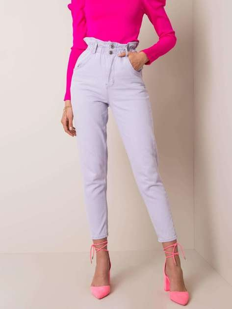 Fioletowe jeansy Amelie RUE PARIS