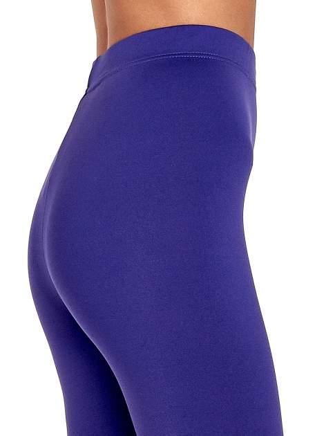 Fioletowe legginsy basic z lekkim ociepleniem                                  zdj.                                  6