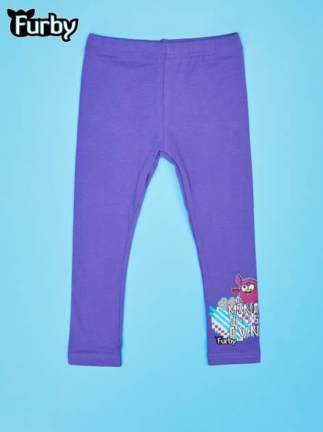 Fioletowe legginsy dla dziewczynki FURBY
