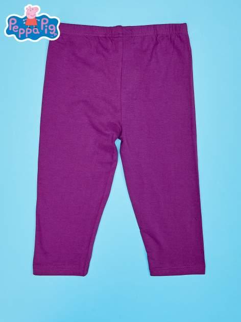 Fioletowe legginsy dla dziewczynki nadruk ŚWINKA PEPPA                                  zdj.                                  2